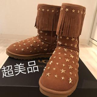 ジミーチュウ(JIMMY CHOO)の超美品 ジミーチュウ ×UGG ムートンブーツ(ブーツ)