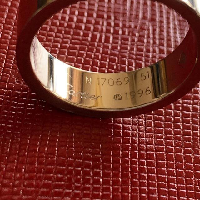 Cartier(カルティエ)のCartierカルティエラブリング WGホワイトゴールド 51 レディースのアクセサリー(リング(指輪))の商品写真