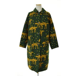 ミナペルホネン(mina perhonen)の【美品】mina perhonen caravan コート(ロングコート)