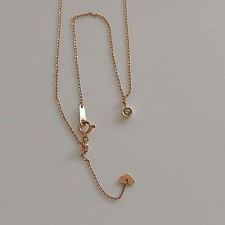 ノジェス(NOJESS)のノジェス k10 一粒 ダイヤ スライドチェーン ネックレス(ネックレス)