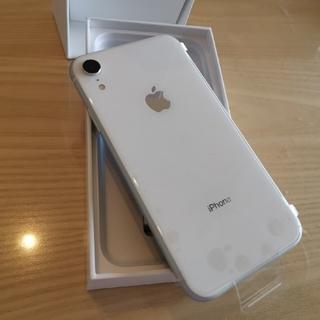 アイフォーン(iPhone)のひみつの〜様専用未使用iPhoneXR 128gb 白(スマートフォン本体)
