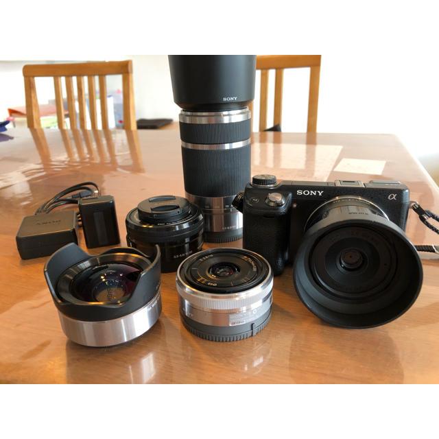 SONY(ソニー)の【大特価】Sony nex 6 レンズ5種、予備バッテリー付き! スマホ/家電/カメラのカメラ(ミラーレス一眼)の商品写真