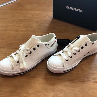 ディーゼル(DIESEL)の[新品未使用]ディーゼル  レディース スニーカー 白 25.5 39(スニーカー)