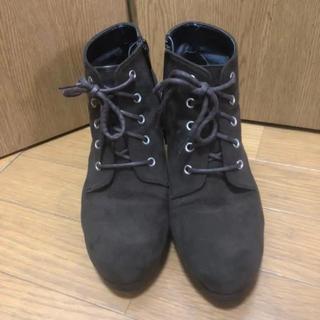 エスペランサ(ESPERANZA)のショートブーツ ブラウン 茶色 23cm 7cmヒール(ブーツ)