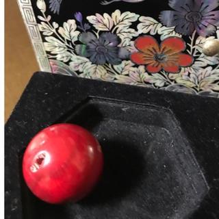 サンゴ(sango)の血赤高知珊瑚玉❤️迫力があり🌟希少直径23.99mm ‼️(リング(指輪))