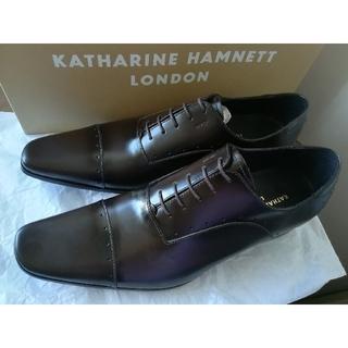 KATHARINE HAMNETT - 25.5 キャサリンハムネット ビジネスシューズ 革靴 ダークブラウン こげ茶