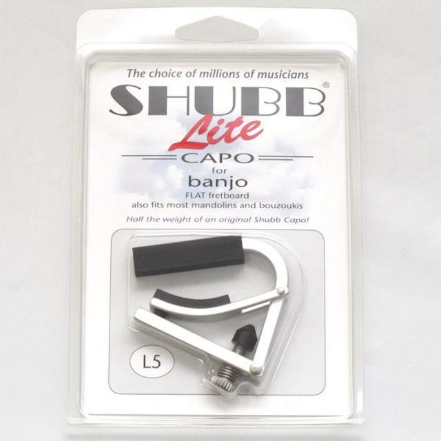 Shubb L5 Lite Capo for Banjo with Flat Fretboard