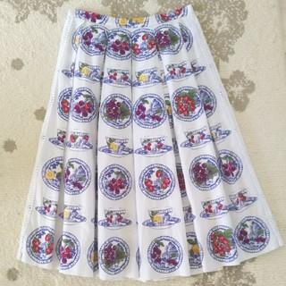 ジェーンマープル(JaneMarple)のジェーンマープル Blue bone-China スカート(ひざ丈スカート)