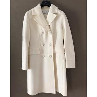 クリスチャンディオール(Christian Dior)の極美品!ディオール ホワイトコート(ロングコート)