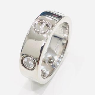 カルティエ(Cartier)のカルティエ B4032548 ラブリング ハーフダイヤ 750WG #48(リング(指輪))