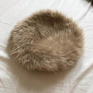 ケービーエフ(KBF)のKBF ファー ベレー帽(ハンチング/ベレー帽)