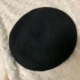ユニクロ(UNIQLO)のUNIQLO ベレー帽 黒(ハンチング/ベレー帽)