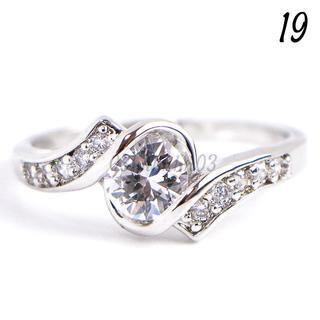 C17 リング 19号 CZ ダイヤモンド ラウンド サイドライン 大きいサイズ(リング(指輪))