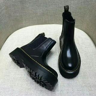 ドクターマーチン(Dr.Martens)のDr. Martens ドクターマーチン 厚底ブーツ 黒 UK6(ブーツ)