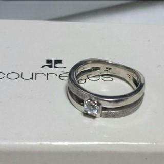 クレージュ(Courreges)のcourreges  ジルコニア  SILVER  リング  箱入り(リング(指輪))