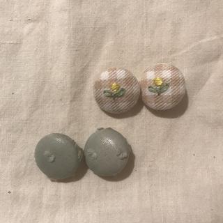 キャラメルベビー&チャイルド(Caramel baby&child )のハンドメイドヘアゴム 花刺繍(ファッション雑貨)