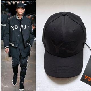 ワイスリー(Y-3)のY-3 CAP BLACK ワイスリー ロゴキャップ(キャップ)