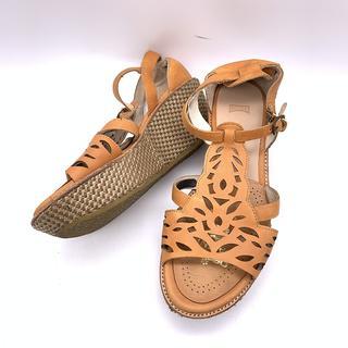 カンペール(CAMPER)のCAMPER カンペール サンダル 靴 パンプス 茶(サンダル)