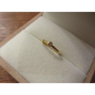 ☆最終価格 インテンス ピンクダイヤ 0.031ct 24金 リング 2号(リング(指輪))