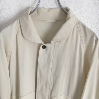 BURBERRY - バーバリー スウィングトップ ドリズラージャケット メンズ 古着 白 ホワイト