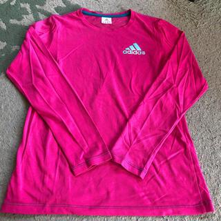 アディダス(adidas)のアディダス ピンク長袖Tシャツ(Tシャツ(長袖/七分))