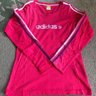 アディダス(adidas)のアディダス カラフル3本ライン 長袖Tシャツ(Tシャツ(長袖/七分))