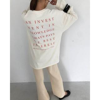 トゥデイフル(TODAYFUL)のTODAYFUL Backprint Long T-Shirts(Tシャツ(長袖/七分))