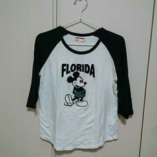 ライトオン(Right-on)の【ご確認用】ライトオン ミッキーマウス Lサイズ ラグラン 7分袖 綿100%(Tシャツ(長袖/七分))
