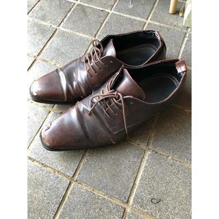 ★激安★軽量 フロントライン ビジネスシューズ 革靴 ブラウン レザー 28.0(ドレス/ビジネス)