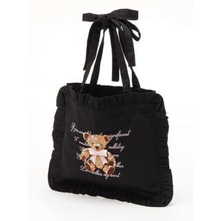 アンクルージュ(Ank Rouge)のアンクルージュ くま 刺繍 フリルトート(トートバッグ)