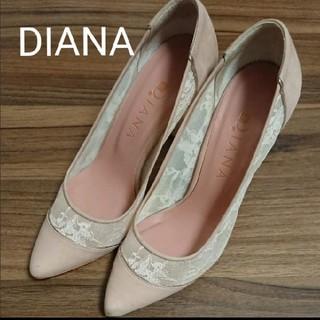 ダイアナ(DIANA)のDIANA ダイアナ パンプス レース ピンク 23cm(ハイヒール/パンプス)
