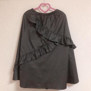 メルロー(merlot)のmerlot バイアスラッフルフリルスカート(ひざ丈スカート)