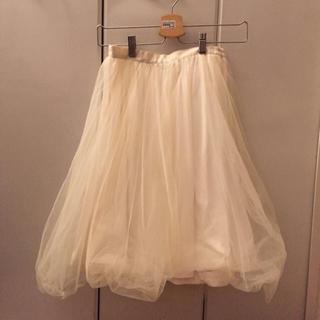 ナイスクラップ(NICE CLAUP)のシフォンスカート snidel好きな方✨(ひざ丈スカート)
