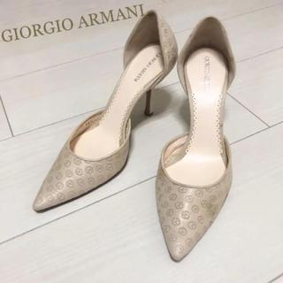 ジョルジオアルマーニ(Giorgio Armani)の定価54000円 ジョルジオアルマーニ 21.5 本革 イタリア製 パンプス(ハイヒール/パンプス)