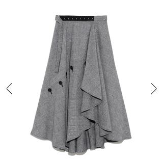 フレイアイディー(FRAY I.D)のチェックツィードスカート(ロングスカート)