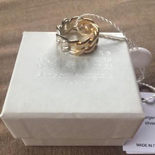 マルタンマルジェラ(Maison Martin Margiela)の18AW新品S マルジェラ ツートーン チェーンリング(リング(指輪))