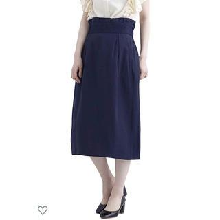 メルロー(merlot)のウエストフリルタックスカート(ひざ丈スカート)