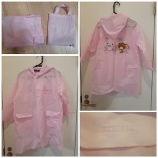 サンリオ(サンリオ)の110cm 雨カッパ シュガーバニー ピンク 女の子 収納袋付き(レインコート)