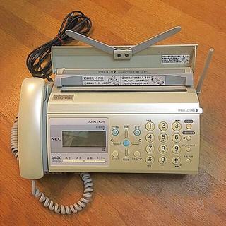 エヌイーシー(NEC)の電話機FAX(NEC) 子機1台 + 新品のインクリボン✨(その他)