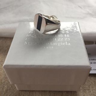 マルタンマルジェラ(Maison Martin Margiela)のM新品 マルジェラ オニキス シグネットリング 18SS(リング(指輪))