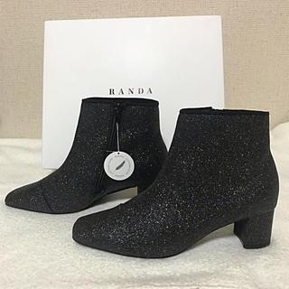 ランダ(RANDA)の本日限定値下げ‼️RANDA ランダ WEB限定 グリッターラメショートブーツ(ブーツ)