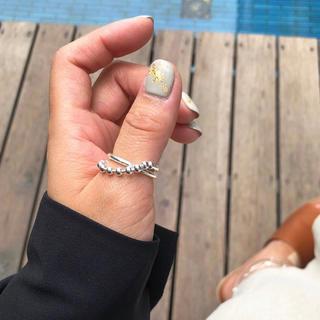アメリヴィンテージ(Ameri VINTAGE)の#65   silver925 チェーンボールデザイン リング(リング(指輪))