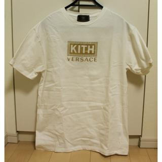 ヴェルサーチ(VERSACE)の国内正規 VERSACE × KITH ゴールド ロゴ Tシャツ M(Tシャツ/カットソー(半袖/袖なし))