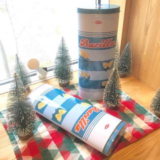 カルディ(KALDI)の空き缶 缶のみ バリラ 限定缶 パスタ 4缶 セット販売(容器)
