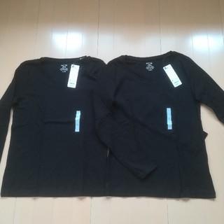 ジーユー(GU)の【新品タグ付き】GU  長袖T シャツ 2枚セット(Tシャツ(長袖/七分))
