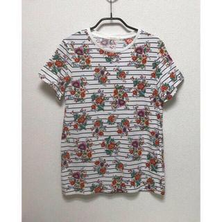 トゥモローランド(TOMORROWLAND)のTOMORROWLAND ボーダー × 花柄 コットン100 運動会(Tシャツ(半袖/袖なし))