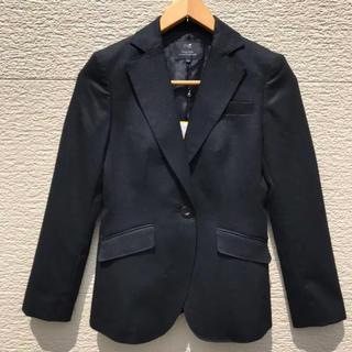 ニジュウサンク(23区)の新品 23区 ジャケット レディース 黒 ブラック カシミヤ混 34(テーラードジャケット)