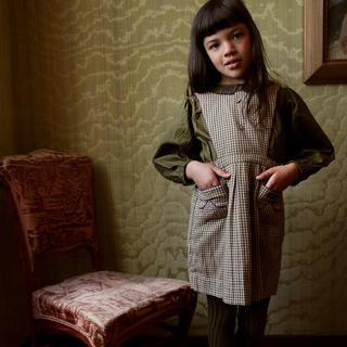 キャラメルベビー&チャイルド(Caramel baby&child )の6Y♥️ Bonjour diary apron dress check(ワンピース)