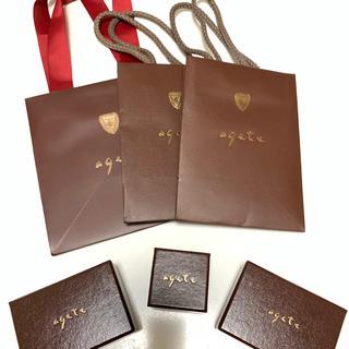 アガット(agete)のagate  ボックス+ショッパー(限定ショッパー有り!)(ショップ袋)