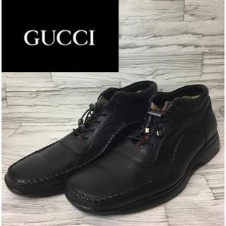 グッチ(Gucci)のレア GUCCI オールドグッチ ミドルブーツ モカシン ブラック 黒 260E(ブーツ)